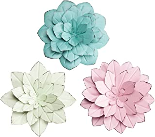 Fox Valley Traders Rustic Metal Floral Indoor/Outdoor Hanging Decor by Maple Lane Creations, Set of 3