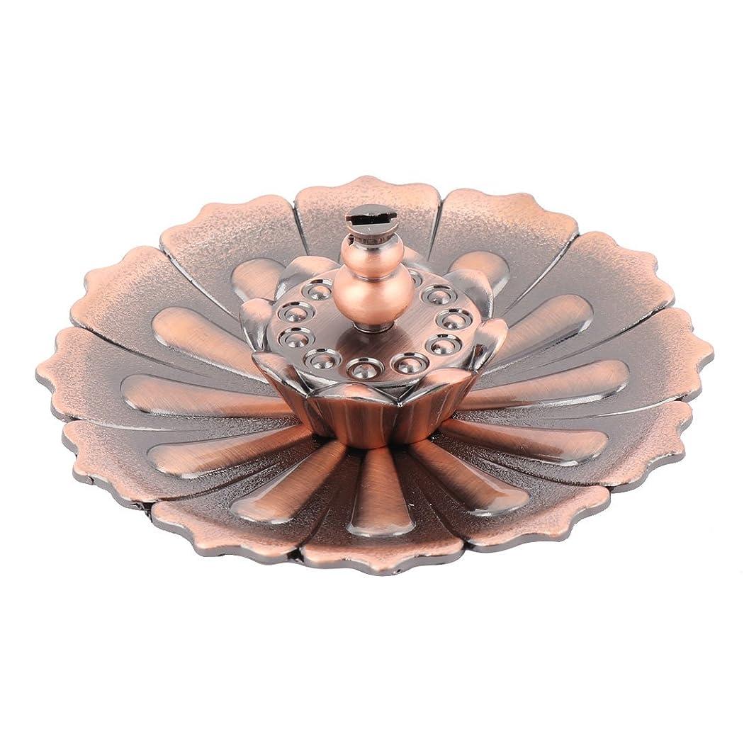 アウトドア人差し指必要性uxcell 香炉ホルダー お香立て インセンスホルダー 蓮 ロータス 花型 セット 金属製 家庭用 直径10cm