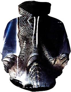 VXVN Caliente Anime Godzilla Vs King Kong Sudadera con Capucha Sudaderas Hombres Mujeres Pullover Unisex Harajuku 3D Hoodi...