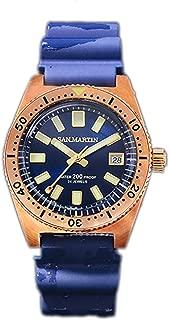 62Mas Diver Mechanical Automatic NH35 Men Watch Bronze CUSN8 Rotate Bezel Sunray Dial Rubber Sapphire Glass