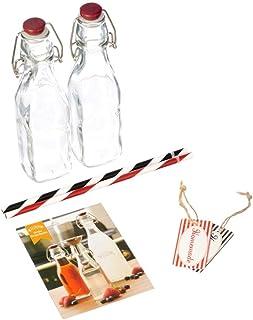 Kilner 7 Piece Drinks Making Set Includes 2 x 0.25 Litre Clip Top Bottles