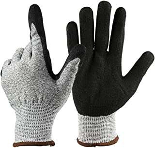 Keyzone Cut Resistant Work Gloves, Level 5 Safety Protective Gloves For Garden, Fishing, Work, Warehouse, Wood Cutting, Co...