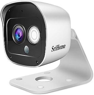 Cámara de Vigilancia WiFi SriHome SH029, Cámara IP 1296P Interiores y Exteriores, Cámara de Seguridad con Visión Nocturna,...
