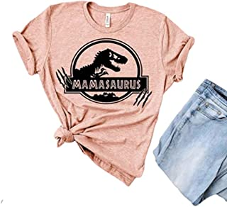 Womens Don't Mess with Mamasaurus You'll Get Jurasskicked Mom T Shirt Dinosaur Graphic Tees Tops