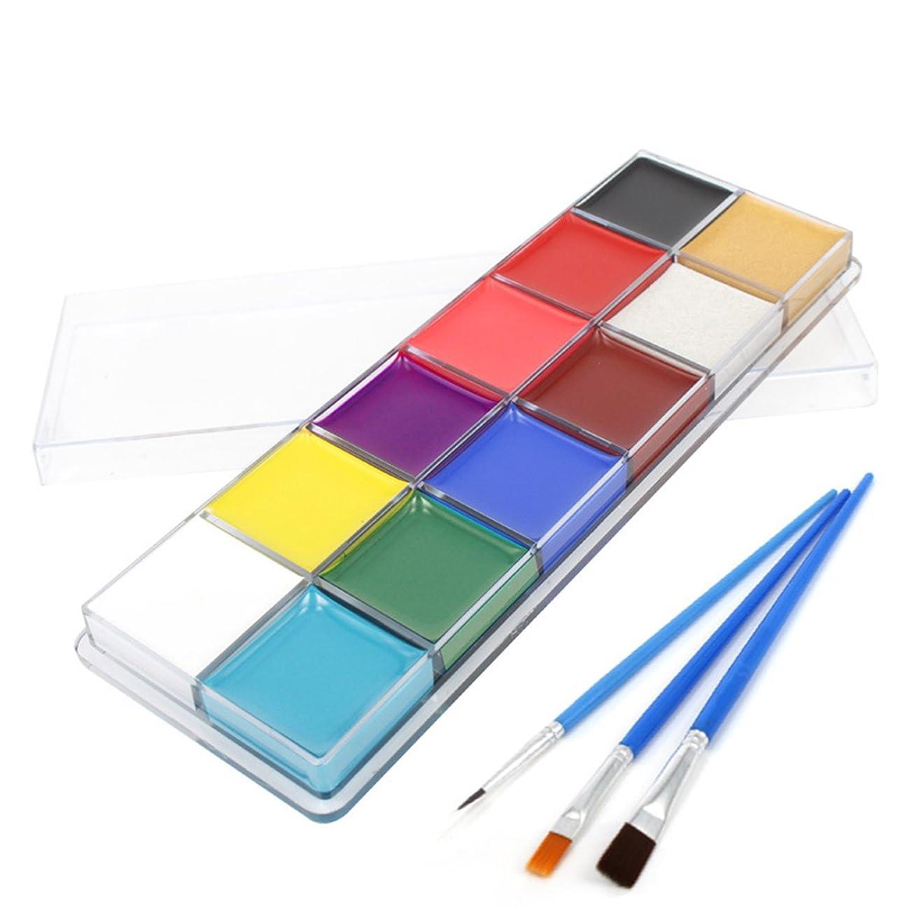 ゴール正しい小川Beaupretty Face Painting Kits Professional 12 Colors Art Party Fancy Make Up Set with brush
