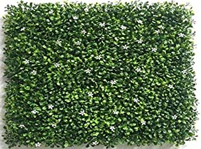 CAPPL Artificial Vertical Garden Small Leaves with White Flower 50 cm X 50 cm (2.78 Sq.ft)(Pack of 3)