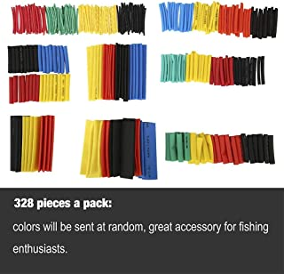 ELECTRONIC-MEI Heat Shrink Wrapped Shrinking 328Pcs Insulation Sleeving Thermal Casing Car Electrical Cable Shrink Tube Tube kit Wrap trousse,328pcs
