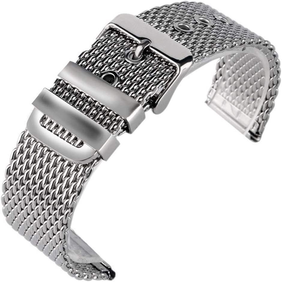 ZJSXIA Challenge the lowest price of Japan 20mm 22mm 24mm Fashion Steel Watchband Stainless Mesh Free shipping on posting reviews Bra