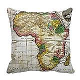 La Carte de l'Afrique Couvre-lit Taie d'oreiller