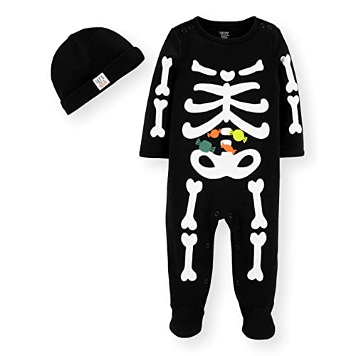8d6a773e4fd Just One You by Carters Halloween Baby Skeleton Sleep and Play with Hat Set