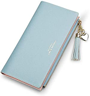 PALAY® Wallets Purses for Women Girls Ladies Leather Cute Thin Travel Clutch Coin Card Holder