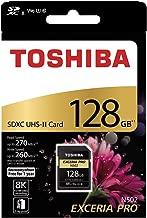 TOSHIBA EXCERIA PRO N502 128GB SD Memory Card SDXC UHS-II Class 10 U3 8K V90 Video Class Compatible THN-N502G1280A6