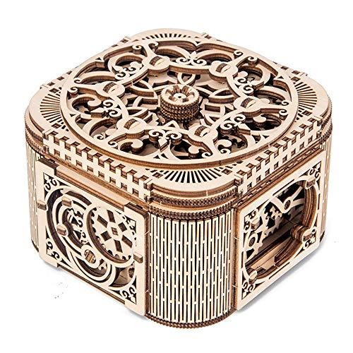 Zhengowen Caja de Almacenamiento de la joyería Caja de Almacenamiento montados creativos Juguete de Regalo de Madera joyería Organizador de Escritorio Joyería usada para almacenar