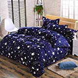 1.5M Bed Supplies Printing Quilt Cover Bed Sheet Pillow CasesGypsophila(blue/white)()