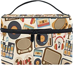 Carla Lalli Music Image Multifunction Travel Makeup Bag,Fashion Waterproof Portable Cosmetic Bag,Hot Home Large Capacity Makeup Pouch.