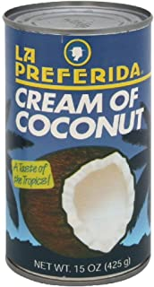La Preferida Drink Mix Cream of Coconut, 15-Ounce. (Pack of 3)