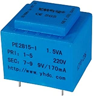 PE2815-I Output Power 1.5VA Input 220V Output 9V PCB Welding Safety Isolation Transformer Vacuum Epoxy Encapsulated