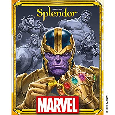 Splendor Marvel Board Game   Family Board Game   Board Game for Adults and Family   Super Heroes Strategy Game   Ages 10+   2 to 4 players   Average Playtime 30 minutes   Made by Space Cowboys