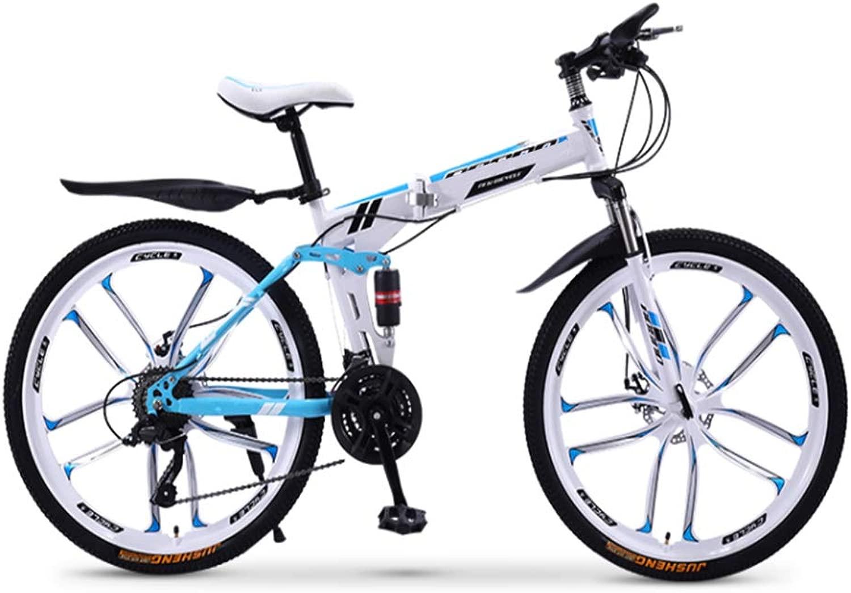 折りたたみマウンテンバイク自転車20/24/26インチ男女生徒可変速ダブルショック吸収大人