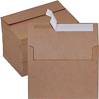 150 Pcs Bulk 4x6 Envelopes A6 Invitation Envelopes Self Seal Brown Kraft Envelopes Greeting Cards Envelopes 4 3/4 x 6 1/2 ...