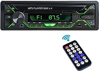comprar comparacion Aigoss Radio Coche Autoradio Bluetooth 1 DIN 60W x 4 FM Estéreo de Manos Libres Llamadas, Apoyo de Reproductor MP3 Luces d...