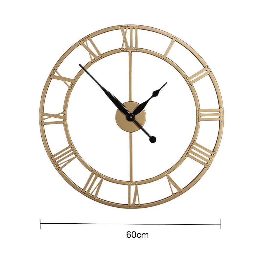 しばしば賛美歌集団メタルローマ数字の壁時計、ホームパンチフリーサイレントクロック、ラウンドカフェホテルオフィス装飾時計