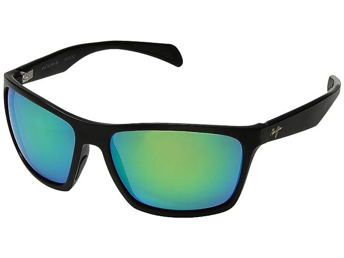 Maui Jim  Makoa (Matte Black/Mauigreen) Fashion Sunglasses