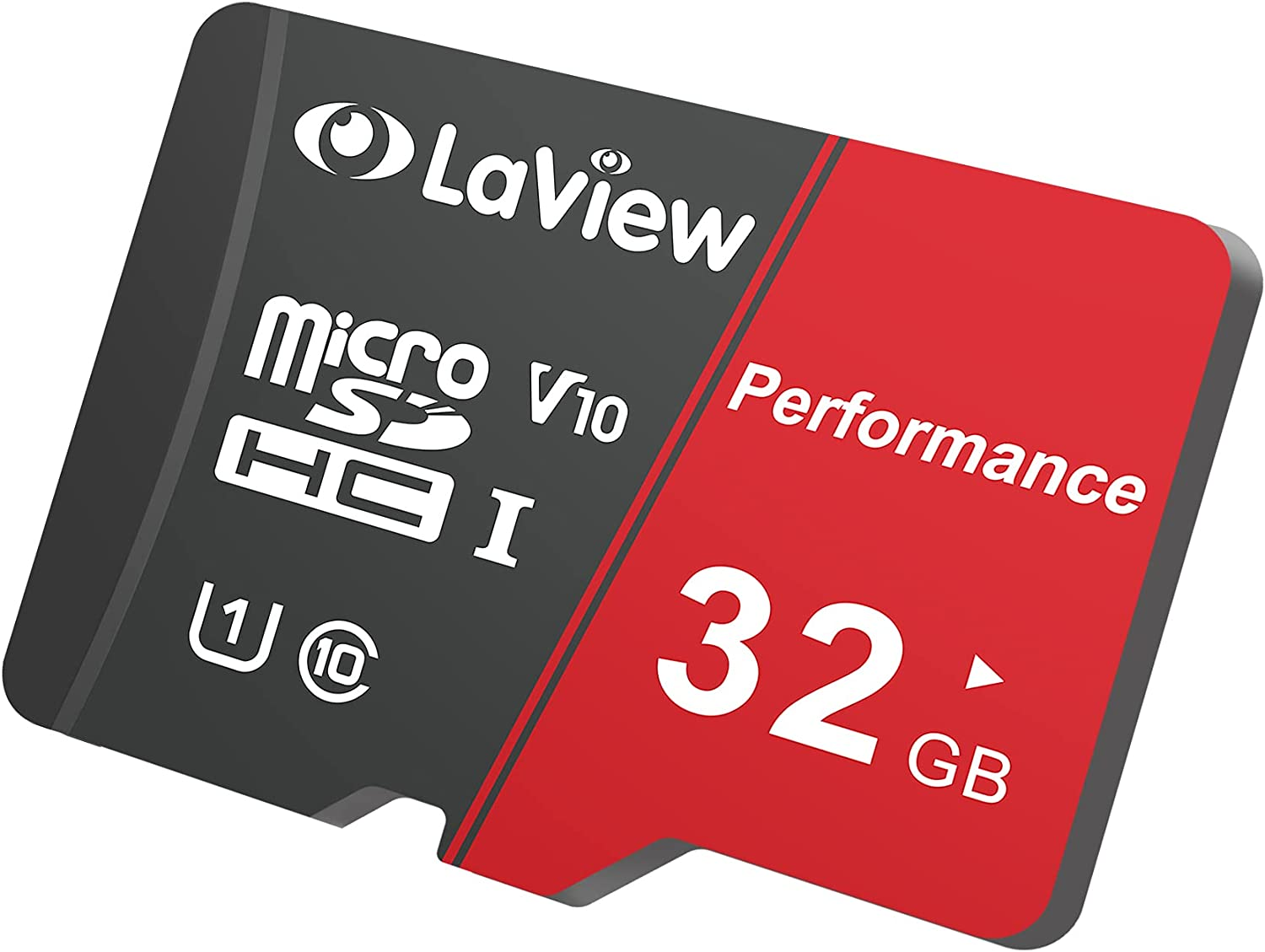 LaView 32GB Micro SD Card, Micro SDXC UHS-I Memory Card – 95MB/s,633X,U1,C10, Full HD Video V10, A1, FAT32, High Speed Flash TF Card P500 for Computer with Adapter/Phone/Tablet/PC