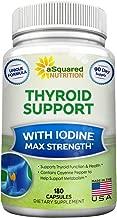 Premium Thyroid Support Supplement With Iodine (180 Capsules) - Best Herbal & Vitamin Complex w/ B12, Ashwagandha, Bladderwrack & Kelp - Helper for Healthy Hormone, Energy, Metabolism, & Weight Loss