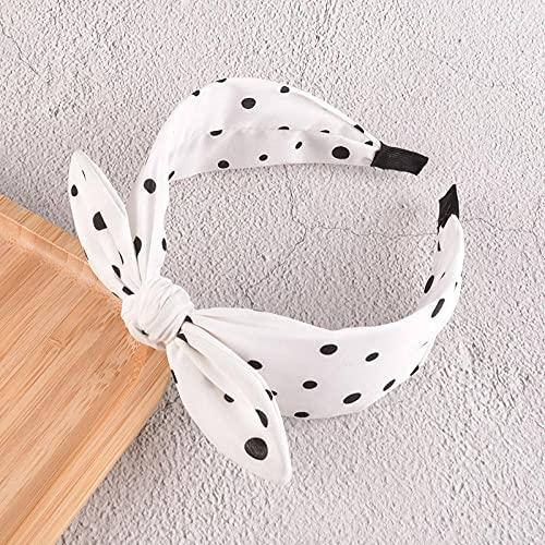 Fuduoduo Diademas para Mujer Turbantes,Diadema Ancha con Lazo Simple-Blanco,Cintas Pelo Mujer Elasticas PañUelos