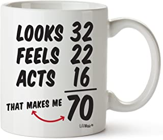 70th Birthday Gifts For Women Seventy Years Old Men Gift Mugs Happy Funny 70 Mens Womens Womans Wifes Female Man Best Friend 1949 Mug Male Unique Ideas 49 Woman Wife Gag Dad Girls Guys Good Husband