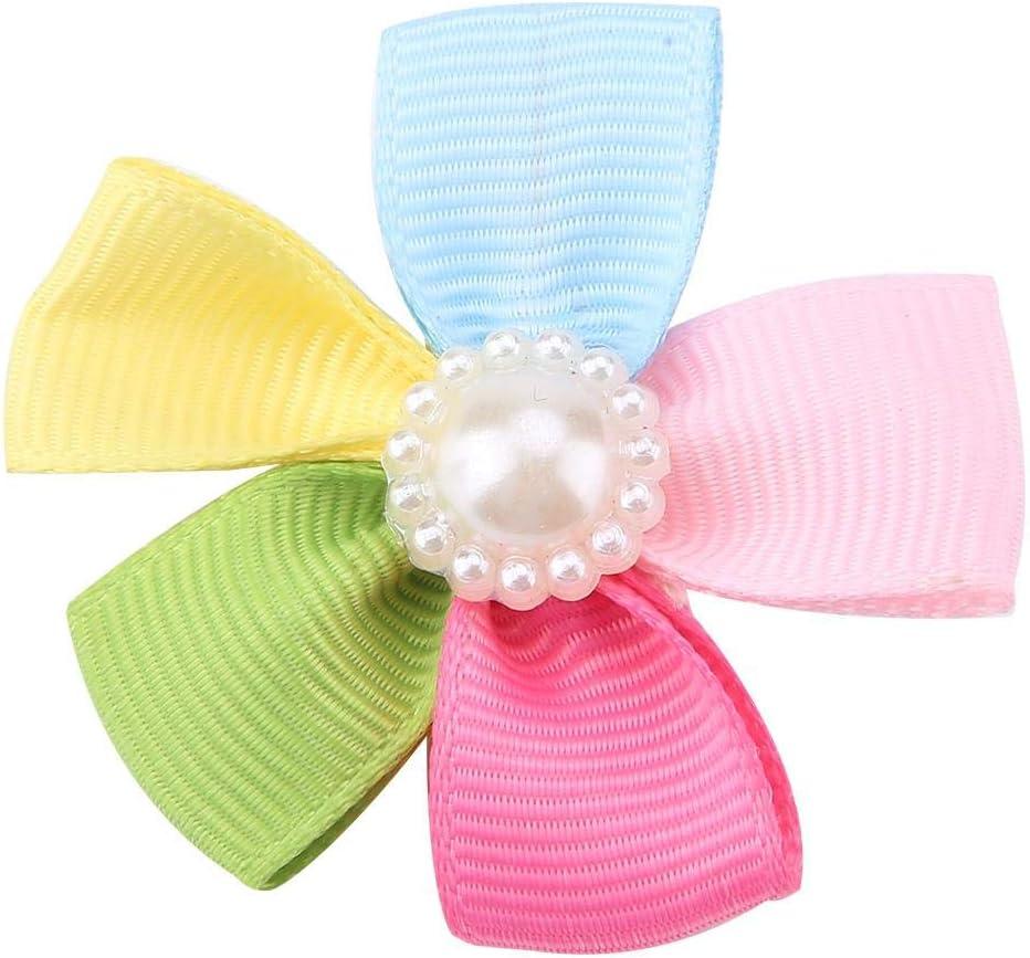 Jadeshay Pet Hair Clip- Pet Sun Flower Hair Clip Pet Bow Tie Dog Puppy Grooming Hair Clip Hairpin Sun Flower Dog Hair Bow Accessories
