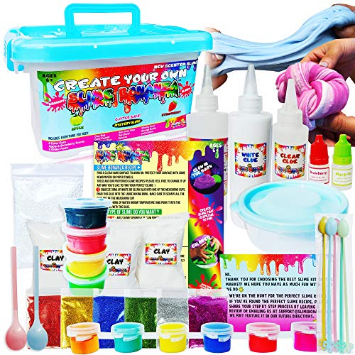 Slime Bonanza Slime kit for Girls and Boys 36pcs DIY Slime Making kit, just add Water!
