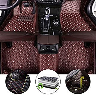 All Weather Floor Mat for 2013-2017 Lexus ES Full Protection Car Accessories Coffee 3 Piece Set
