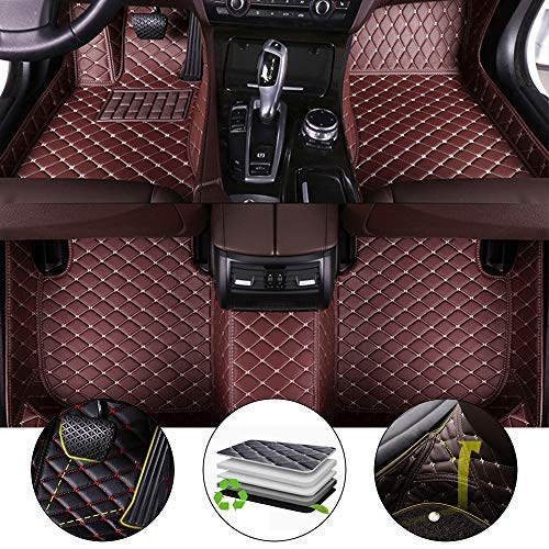 for Bentley Continental GT 2012-2017 Floor Mats Full Protection Car Accessories 3 Piece SetCoffee