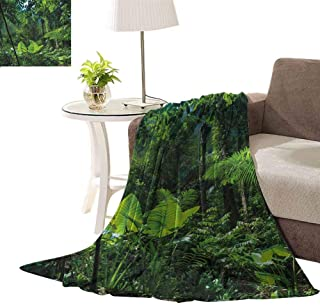 williamsdecor Green Untouched Nature Throw Blanket Soft and Cozy Fleece Blanket Perfect for Couch Sofa or Bed, 30x40 Inch