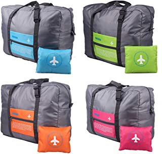 Foldable Travel Bag, Lightweight Waterproof Portable Luggage Storage Bag Travel Sports Gym - Large-Capacity Nylon Waterproof,Blue