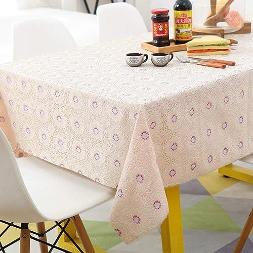 perfecto WENYAO Rectangular Plastic Plastic Plastic Tablecloth Simpwaterproof tabcloth Anti-Hot Anti-Oil Tea tabmat Gab Covering Cloth,E_100137cm  punto de venta barato