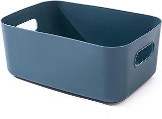 Onlyup Panier de rangement en plastique - Avec poignées - Pour cuisine, étagère, salle de bain, cosmétique, chambre d'enfa...