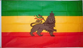 Ethiopia Lion Flag from SoCal Flags 3x5 Foot Polyester Lion of Judah Banner - Sold by A Proud American Company - Durable 100d Material Not See Thru Like Other Brands Weather Resistant