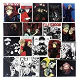 Jujutsu Kaisen Anime Stickers Pack(50pcs), No Repeat Cool Teens Adult Jujutsu-Kaisen Sticker for Water Bottle Skateboard Motorcycle Bike Laptop Guitar Weapon Box ATV with Waterproof PVC