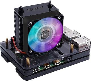 GeeekPi Raspberry Pi 4 Caja con Ventilador de CPU Ice Tower Cooler, Raspberry Pi 4 Caja con Ventilador Raspberry Pi Ventil...