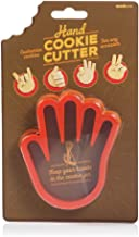 UK Hand Shaped Cookie Cutter-Novelty Accessory to Make Customised Bakes, Red
