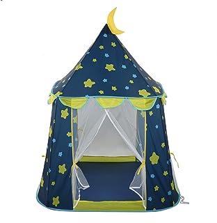 Ejoyous Lektält för barn, bärbart raketfartyg form inomhus utomhus slott lektält lekhus prins lås tält med bärväska för fe...