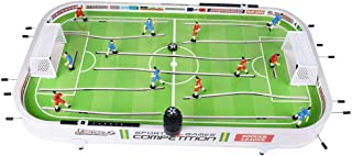 LNGRY-Ship from USA Table Top Foosball Table for Adults and Kids - Compact Mini Tabletop Soccer Game - Portable Recreational Hand Soccer for Game Room & Family Game Night (Free, Green)