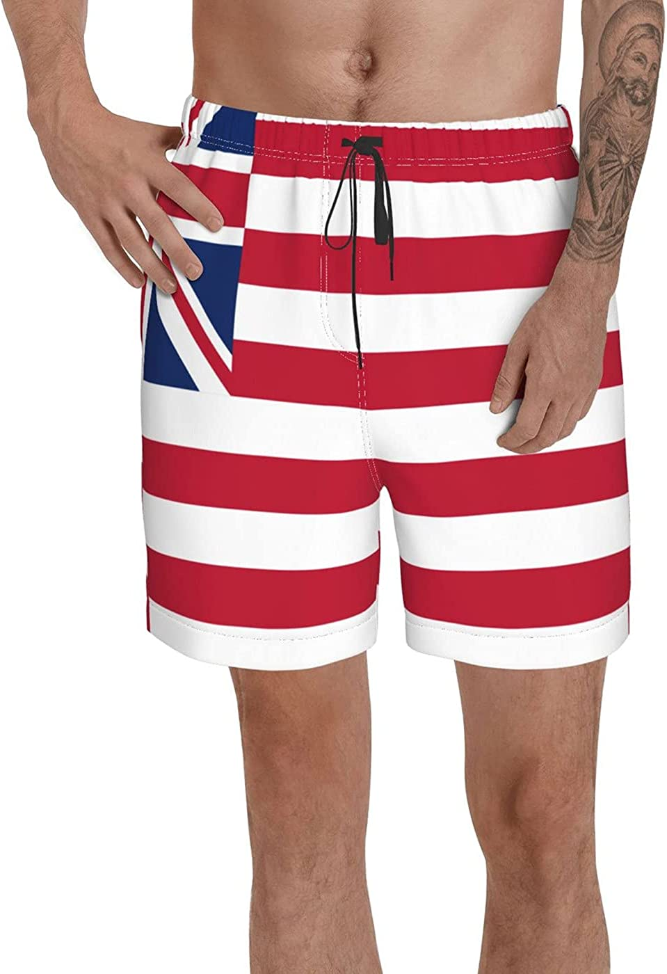 Count Grand Union Flag Men's 3D Printed Funny Summer Quick Dry Swim Short Board Shorts with
