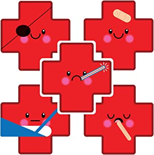 SmileMakers Shaped Emoji Medical Cross Stickers - Prizes and Giveways - 100 per Pack