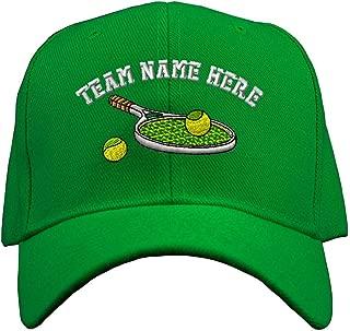 Custom Baseball Hat Tennis Racket Embroidery Team Name Acrylic Structured Cap