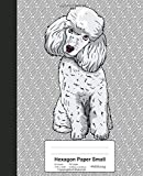 Hexagon Paper Small: Book Poodle Dog (Weezag Hexagon Paper Small Notebook)