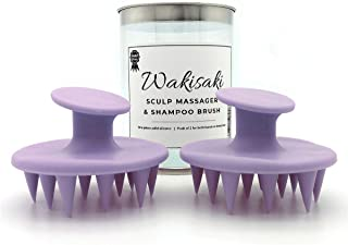 Hair Scalp Massager Shampoo Brushes, Moldless One-piece Solid Silicone, 2-pack for Both Hands or Loved One Purple